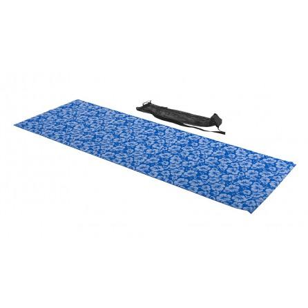 Tapis de yoga, imprimé bleu, avec sac