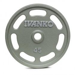 Disque Olympique Ivanko 7 Slots Métal Hammertone 20 kg