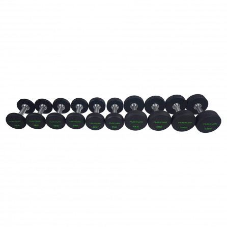 Set d'haltères PRO Uréthane 2-12 kg (10 paires) Tunturi 14TUSCF050