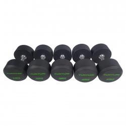 Set d'haltères PRO Uréthane 34-42 kg (5 paires)