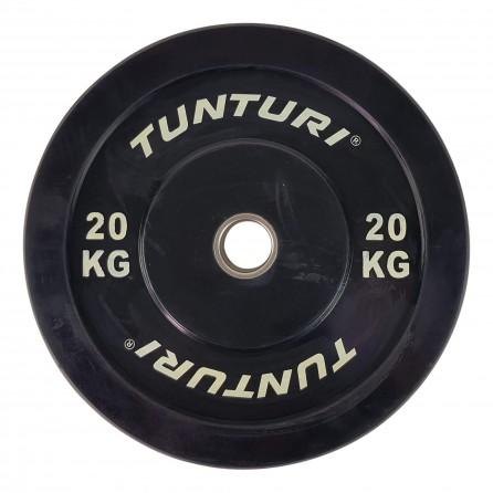 Disque Olympique Rebondissant 20 KG Bumper Plate Tunturi 14TUSCF059