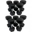 Série d'haltères hexagonaux PRO 12 à 20 kg