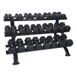 Rack PRO 3 Niveaux pour haltères ronds ou hexagonaux Tunturi 14TUSCL316