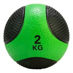 Médecine Ball Caoutchouc Antidérapant PRO 2 kg Tunturi 14TUSCF402
