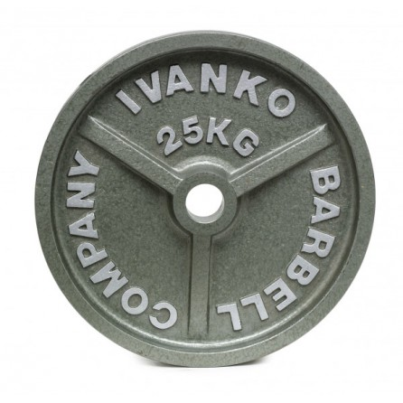 Disque Olympique Ivanko Plein Métal Hammertone 25 kg