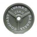 Disque Olympique Plein Métal Hammertone 25 kg