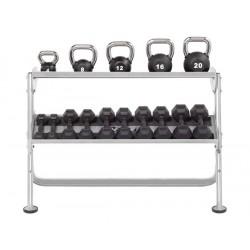 Range haltères & kettlebells 2 niveaux 140 cm