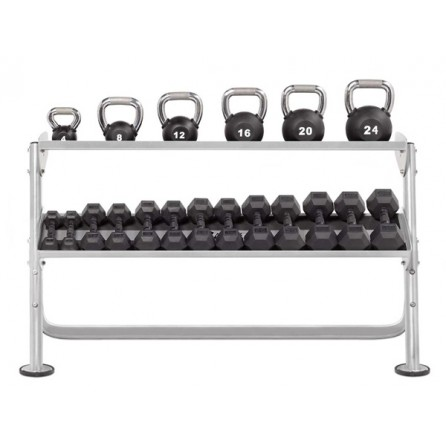 Range-haltères et Kettlebells Horizontal 2 niveaux 170 cm Hoist Fitness HF-5461-60