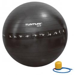 Gymball noir anti-éclatement 55 cm