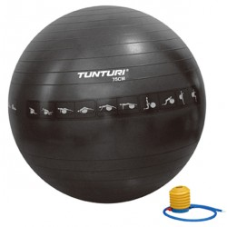 Gymball noir anti-éclatement 75 cm