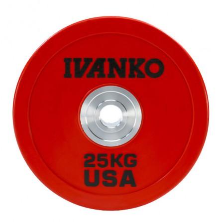 Disque Olympique Bumper IVANKO OBPX-25KG