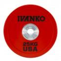 Disque Olympique Bumper 25 kg